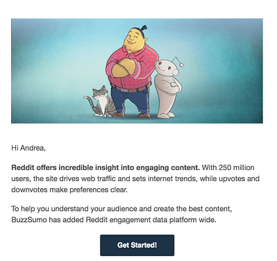 email cta example 2