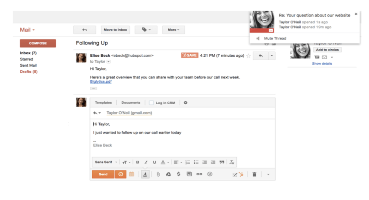 gmail hubspot extension