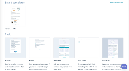 hubspot drag and drop email templates