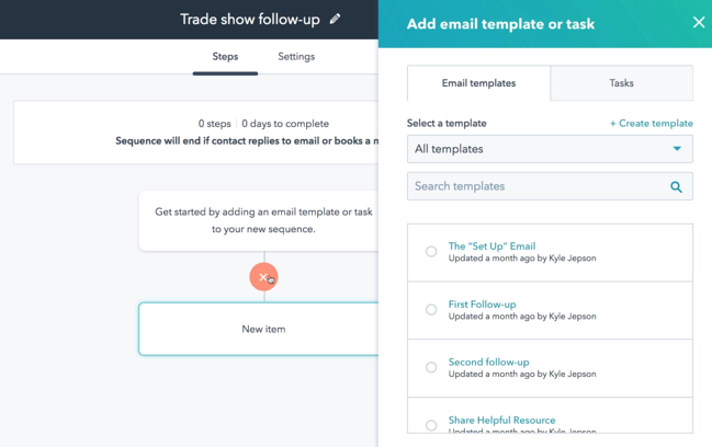 Sequence email template