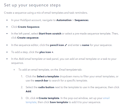 how to set up sequences step-by-step